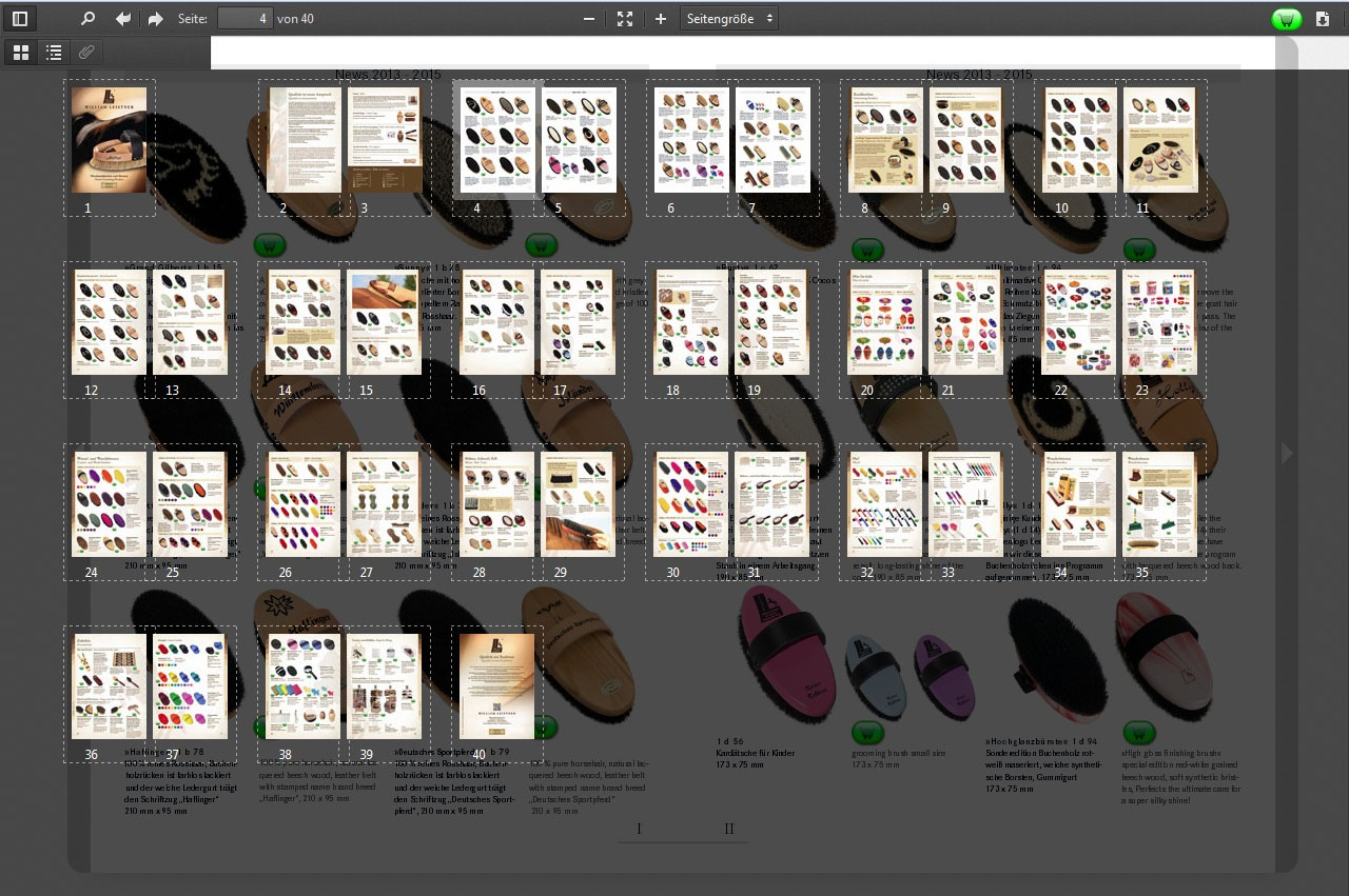 flipbook thumbail view